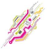 Circuito eletrônico colorido
