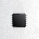 Circuito eletrônico da tecnologia do microchip fotografia de stock royalty free
