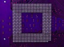 Circuito eletrônico do computador Fotografia de Stock