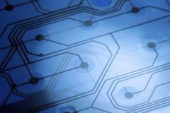 Circuito elettronico blu - 3 Fotografia Stock