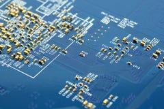 Circuito elettronico del microchip Fotografie Stock Libere da Diritti