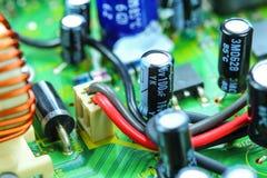 Circuito elettronico del primo piano Fotografia Stock