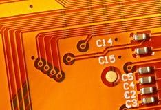 Circuito elettronico giallo Fotografia Stock Libera da Diritti