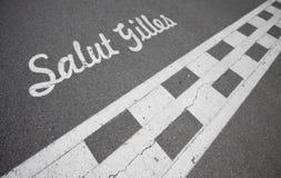 Circuito Gilles Villeneuve - linha de partida fotografia de stock royalty free