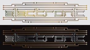 Circuito impresso eletrônico Ilustração Royalty Free