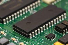 Circuito integrado característico da aplicação Foto de Stock Royalty Free