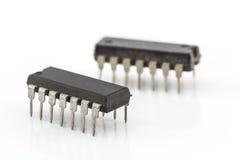 Circuito integrado do close up Imagens de Stock
