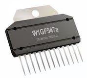 Circuito integrado ou micro microplaqueta e novas tecnologias no isolado Foto de Stock Royalty Free