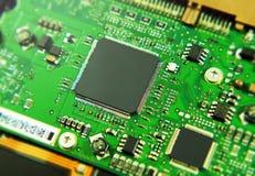 Circuito integrato di un disco rigido del computer fotografia stock