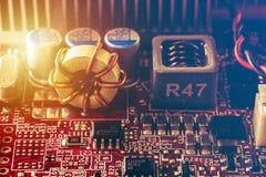 Circuito ou computador ou booard da eletrônica foto de stock royalty free