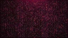 Circuito rojo abstracto del mundo stock de ilustración
