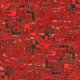 Circuito rosso royalty illustrazione gratis