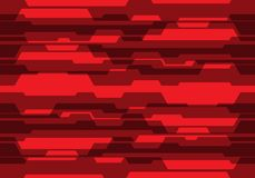 Circuito rosso astratto di tono con il vettore futuristico moderno del fondo di progettazione in bianco Immagini Stock Libere da Diritti