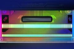 Circuito stampato dell'affissione a cristalli liquidi Fotografie Stock Libere da Diritti