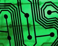 Circuito verde immagine stock