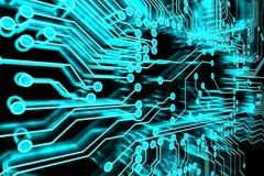 Circuitos azuis Foto de Stock