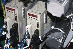 Circuitos bondes, relés e contatores Fotos de Stock