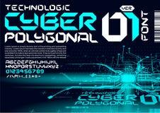 circuitos de alta tecnología de las letras del estilo del trance de la fuente de Techno Foto de archivo libre de regalías