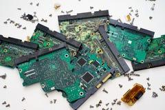 Circuitos de HDD Imagem de Stock