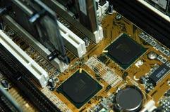 Circuitos de la PC fotografía de archivo