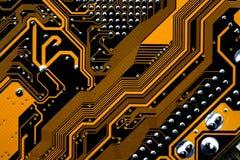 Circuitos de um cartão-matriz Imagens de Stock