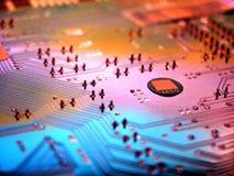 Circuitos de um computador Imagem de Stock