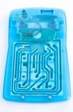 Circuitos de uma calculadora eletrônica. fotografia de stock royalty free