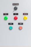 Circuitos del panel de control  Fotos de archivo libres de regalías