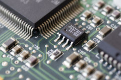 Circuitos electrónicos Imagenes de archivo