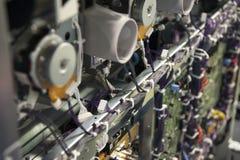 circuitos eletrônicos da máquina da impressora imagem de stock royalty free