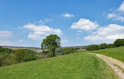 The circuitous pathway, leading to Stannage Edge, in idylic Haversage, Derbyshire. Taken on a sunny spring day, this captures a beautiful pastoral and Royalty Free Stock Photography