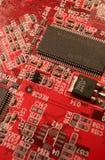Circuitry. A closeup of a computer circuit board Royalty Free Stock Photos