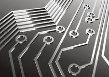 Circuitry. A close up view of an electronic circuit board Royalty Free Stock Image