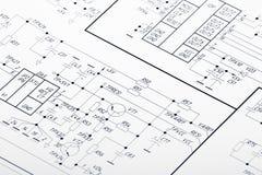Circuits électriques Image stock