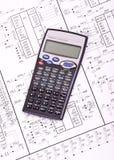Circuits électriques et calculatrice Photographie stock libre de droits