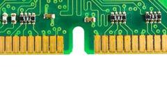 Circuits électroniques d'isolement sur le fond blanc photos stock