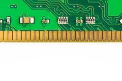 Circuits électroniques d'isolement sur le fond blanc images libres de droits