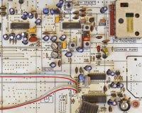 Circuits électroniques dans salut l'équipement de fidélité photographie stock