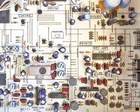 Circuits électroniques dans salut l'équipement de fidélité photo stock