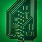 Circuits électroniques sur le fond blanc photo stock