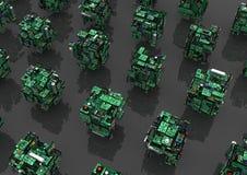 Circuits, Abstract Cubes Stock Photos