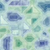 Circuits abstract seamless generated hires texture Royalty Free Stock Images