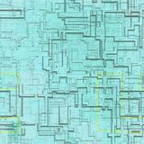 Circuits abstract seamless generated texture Stock Photography