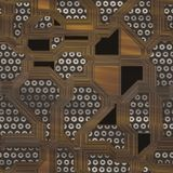 Circuits abstract seamless generated texture Stock Images