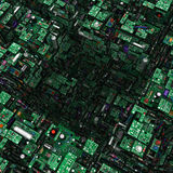 Circuits, Abstract Square Hole Stock Photography