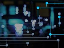 circuits bleus Photographie stock