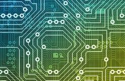 circuits datoren stock illustrationer