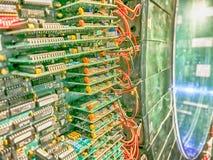 Circuits de la machine de résonance magnétique (IRM) images libres de droits