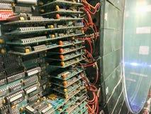 Circuits de la machine de résonance magnétique (IRM) photographie stock libre de droits