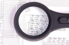 Circuits pour le plan rapproché de fond ou de conception photos libres de droits